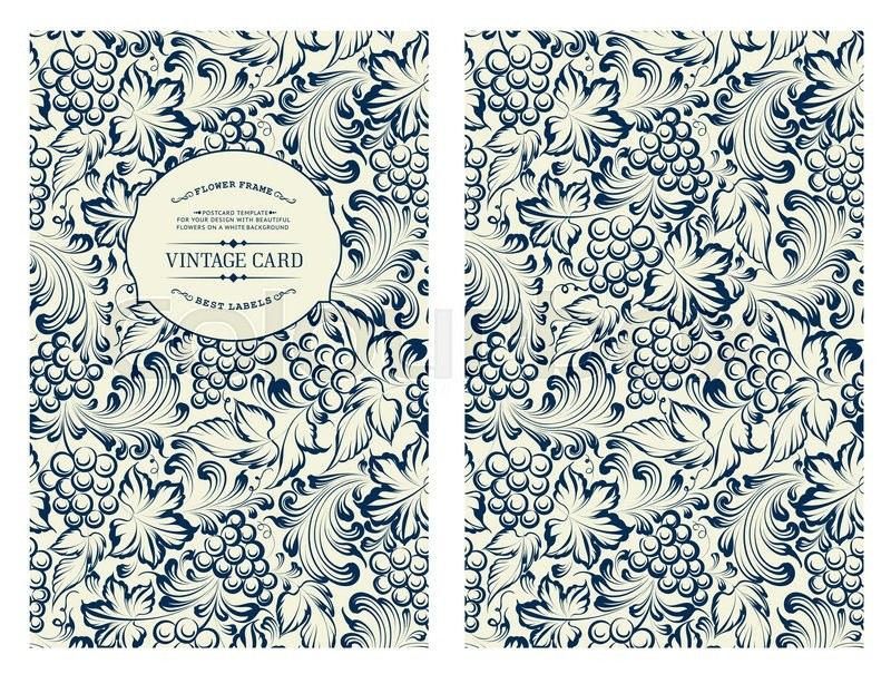 Book Cover Pattern Guide : Cover design for you personal vine pattern