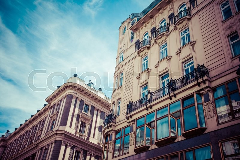 Traditional architecture in Vienna, Austria, stock photo