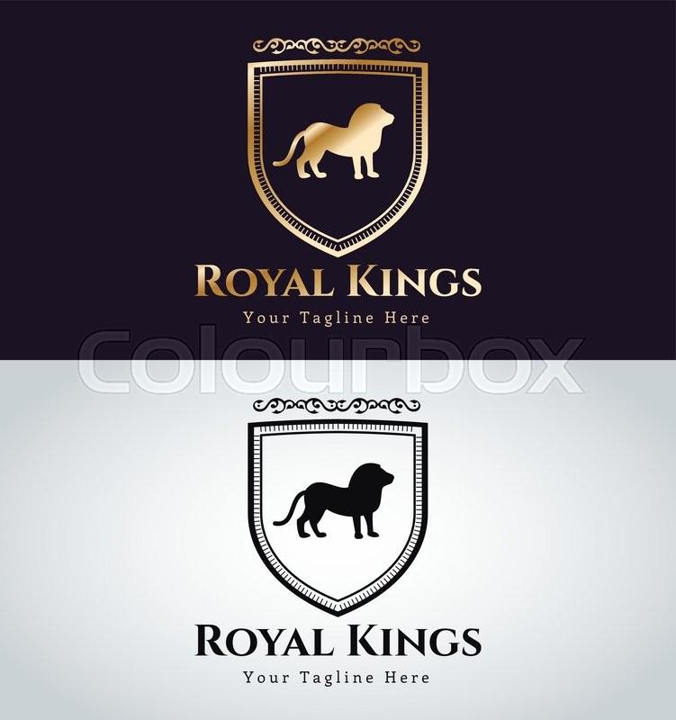 royal logo vector logo lion logo kings symbol royal