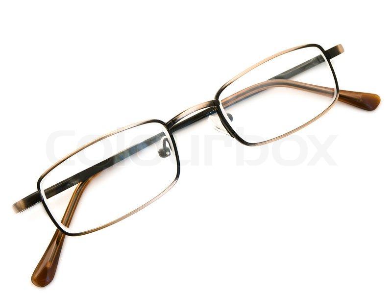 modern glasses in metallic frame over the white background stock photo colourbox - Modern Glasses Frames