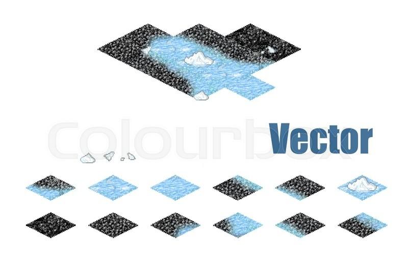 Pixel art sprite tiles for game     | Stock vector | Colourbox