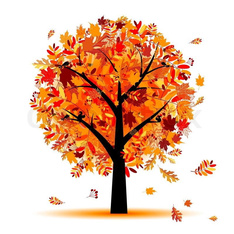 beautiful autumn tree for your design stock vector maple leaf vector outline maple leaf vector outline