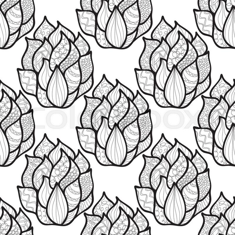 Abstract hand-drawn pattern with waves. Unique coloring book square ...