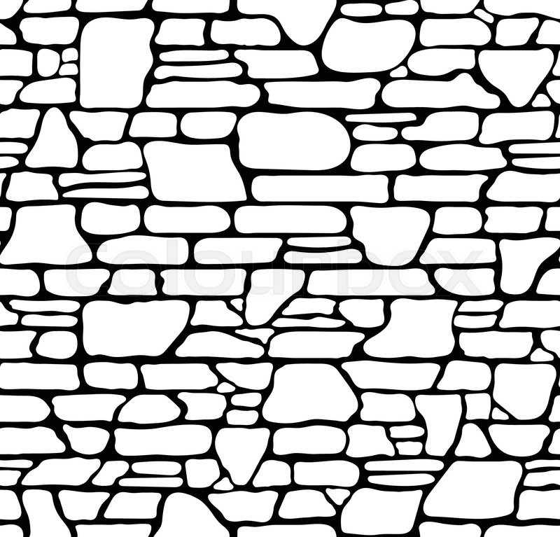 seamless grunge stone brick wall texture  vector illustration
