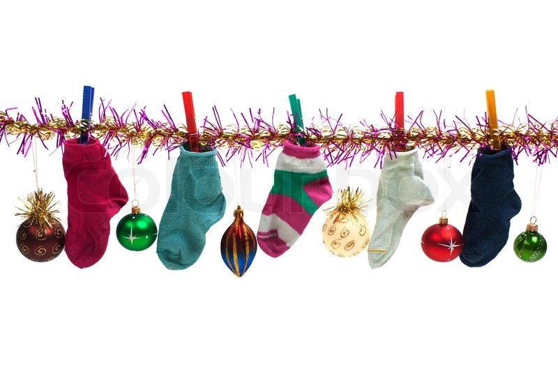 christmas holiday gift sock stocking decoration stock photo colourbox