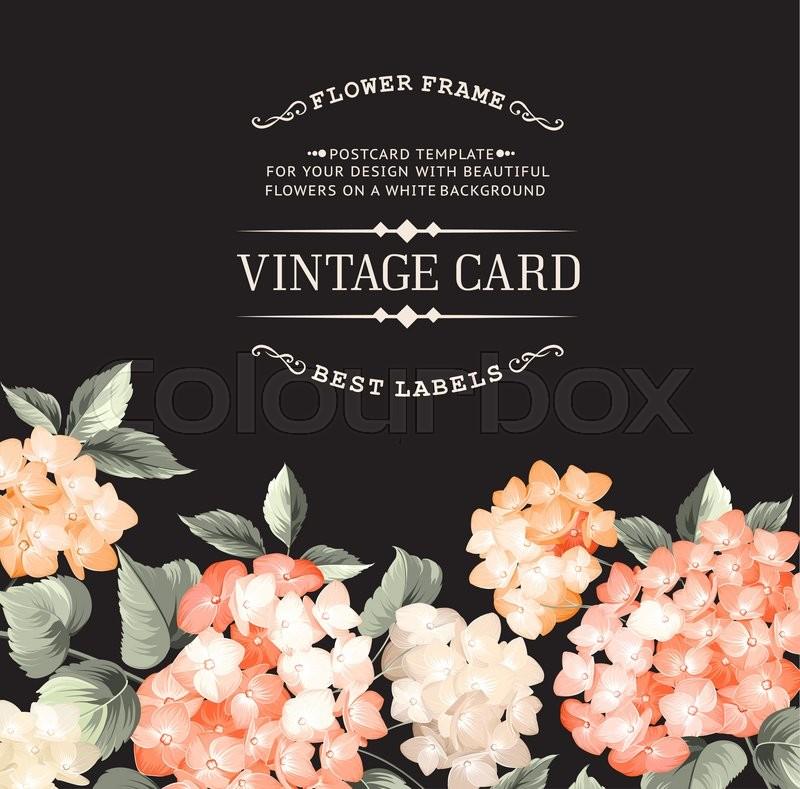 vintage card for wedding invitation template black background
