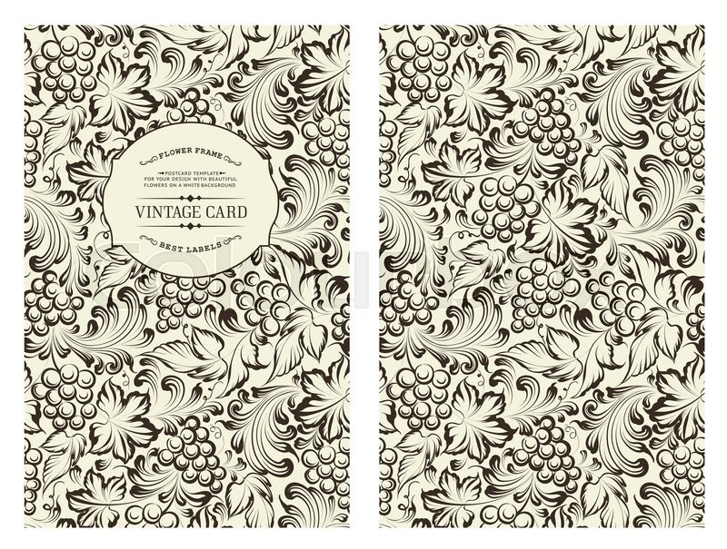 Book Cover With Pattern : Design for you personal cover vine pattern theme