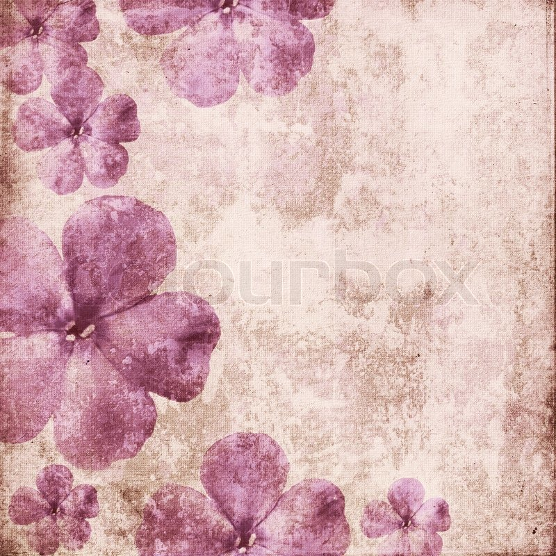 Vintage romantischen hintergrund mit stockfoto colourbox - Vintage bilder kostenlos ...
