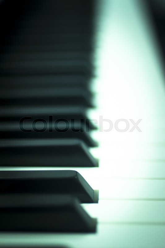 Piano concert keyboard keys in nightclub classical jazz music concert wedding reception party, stock photo