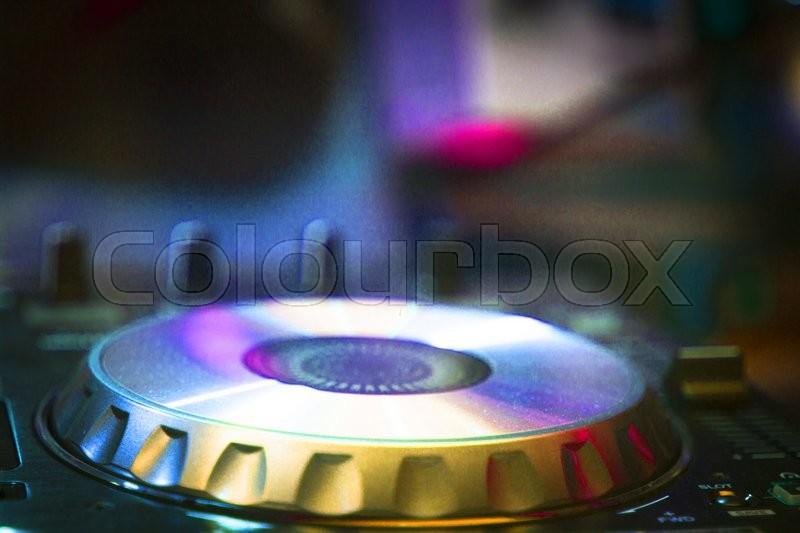 Dj Console Cd Mp4 Deejay Mixing Desk Stock Photo Colourbox