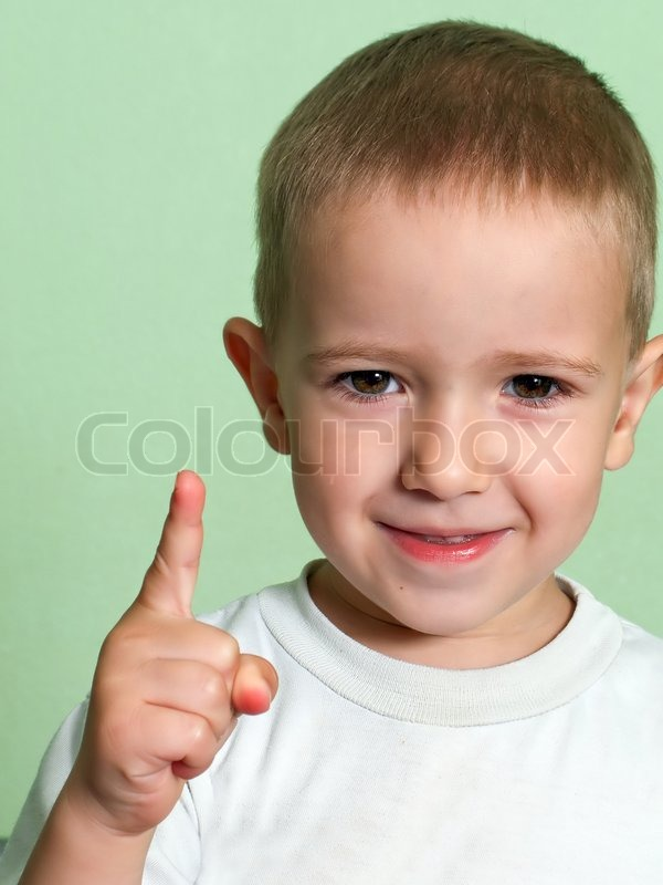 Little human child shake finger for threat warning | Stock ... Cute Baby Pointing Finger