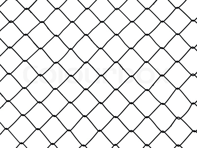 Metal Wire Fence Protection Chainlink Background Stock