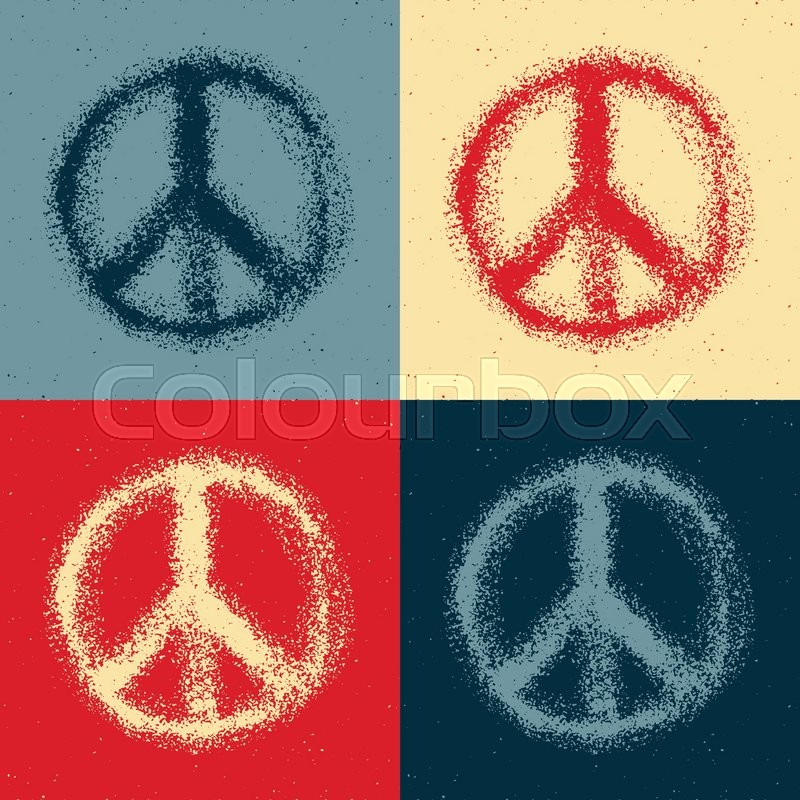 Peace Symbol Drawing Hand Drawn Vector Illustration Stock Vector