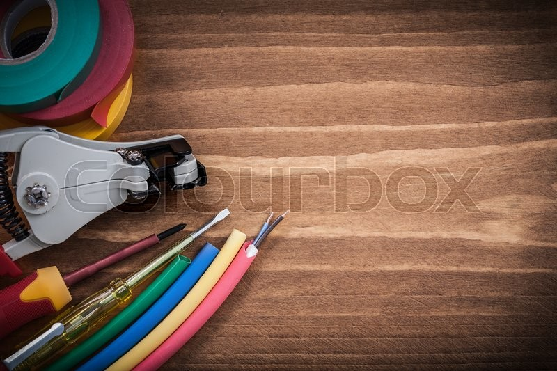 Wire strippers protection insulated     | Stock image