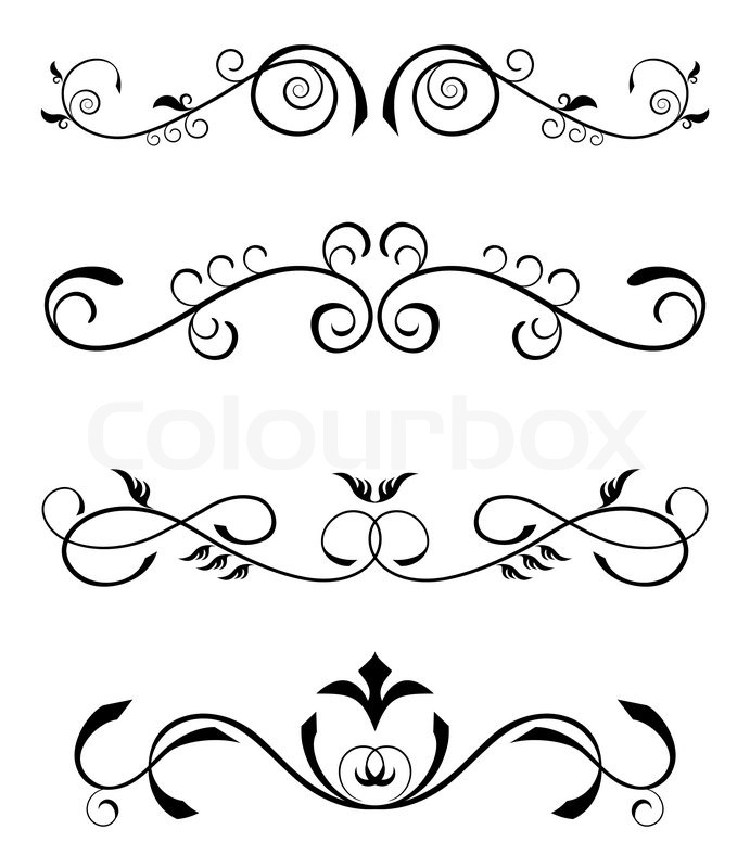 Vintage Floral Borders Stock Vector Colourbox