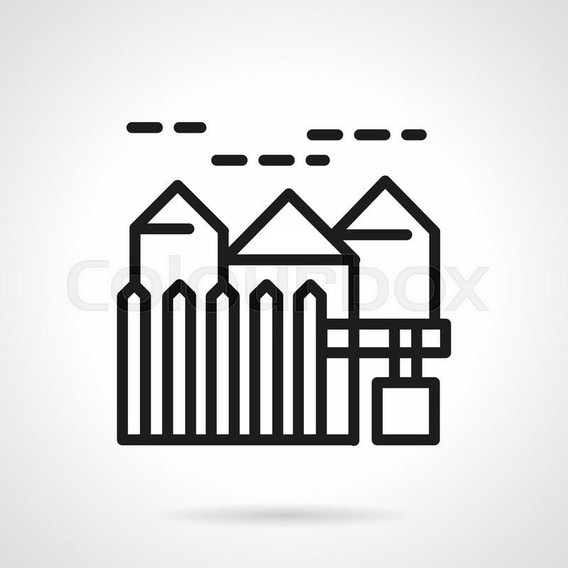 Suburban real estate sales        Stock vector   Colourbox