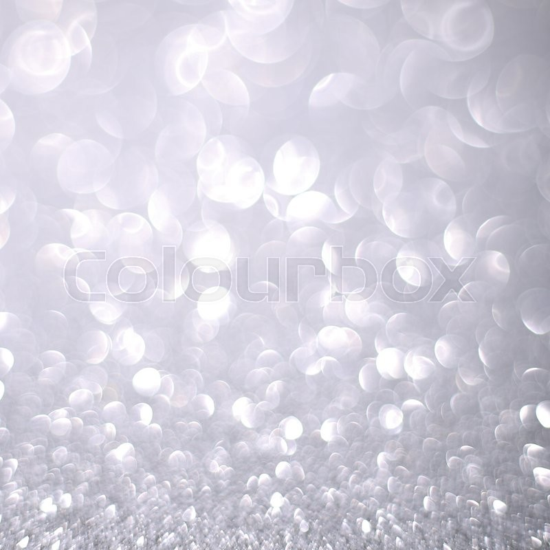 Bokeh Glitter Abstract Background Wallpaper For Wedding And Christmas Festival Design Stock Photo