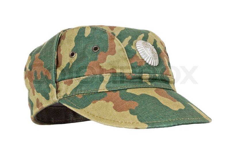 e8dc26641 Russian Military Cap on white ... | Stock image | Colourbox
