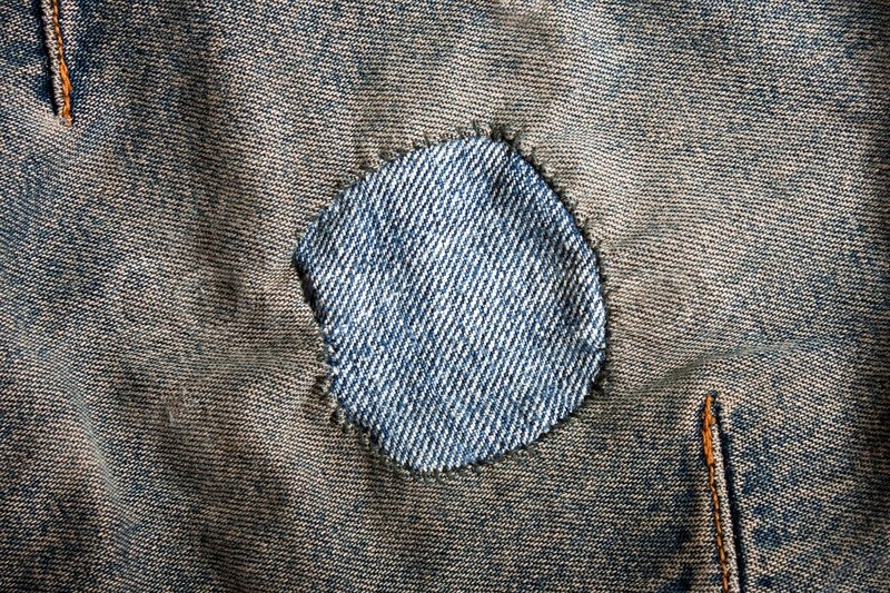 Jeans Textile Textured Material Patch Background Stock