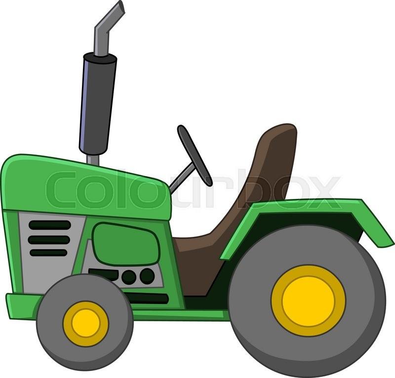 Farm Tractor Wheel Clip Art : Tractor cartoon stock vector colourbox