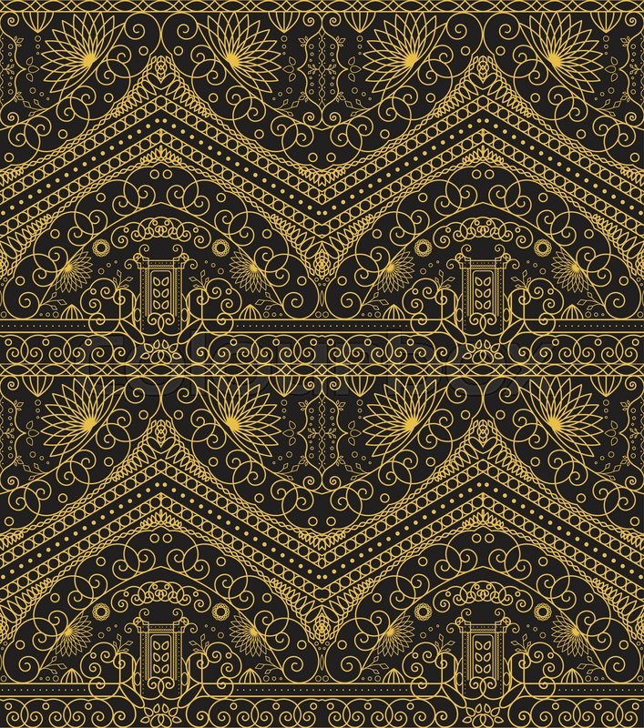 Seamless Texture With Luxury Arabic Ornament Vector
