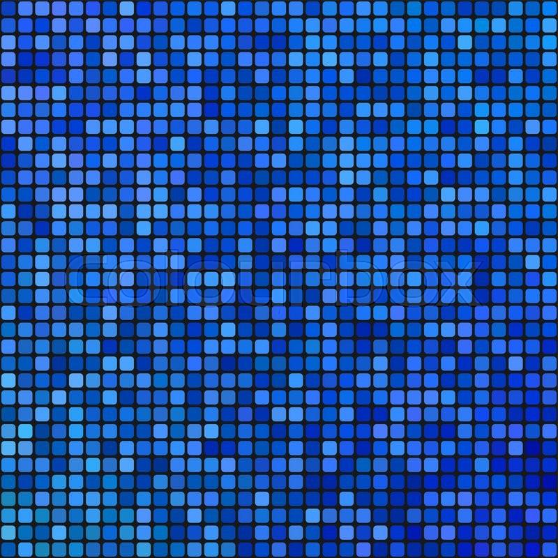 blue pixel mosaic background | stock vector | colourbox