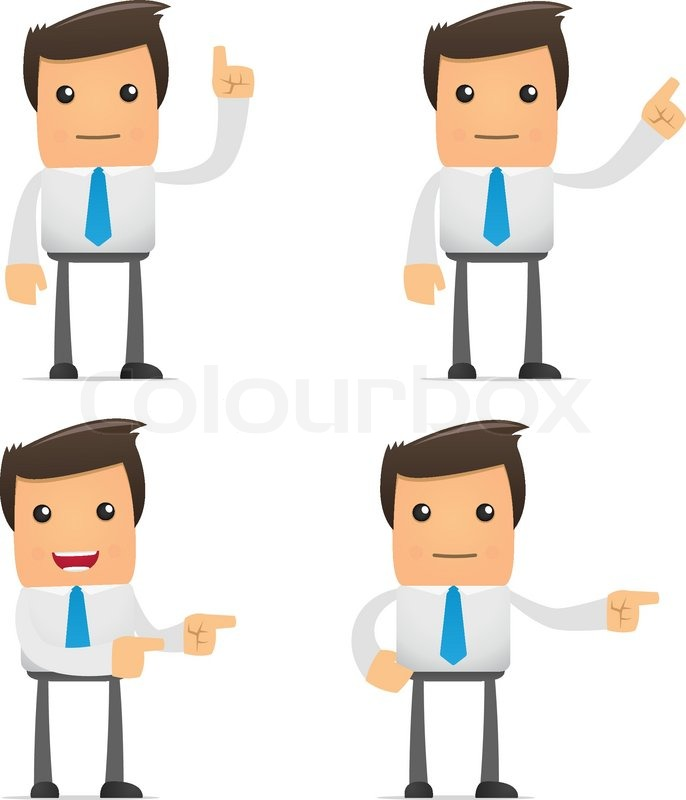 Set Of Funny Cartoon Office Worker In Stock Vector Colourbox