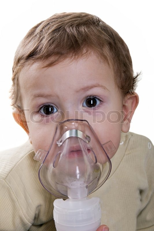 Medical Equipment Inhaling Mask On Stock Photo