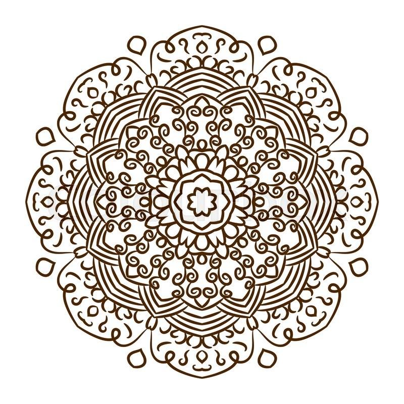 hand drawn henna tattoo mandala vector lace ornament indian asian rh colourbox com henna vector free download henna vector pattern
