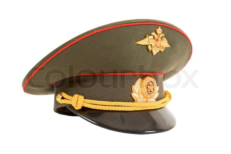 Russian Military Officer Cap isolated on white background d2ace4bc285