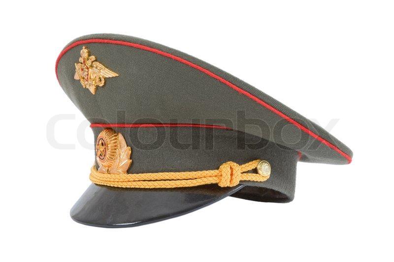 848287961 Russian Military Officer Cap isolated ... | Stock image | Colourbox