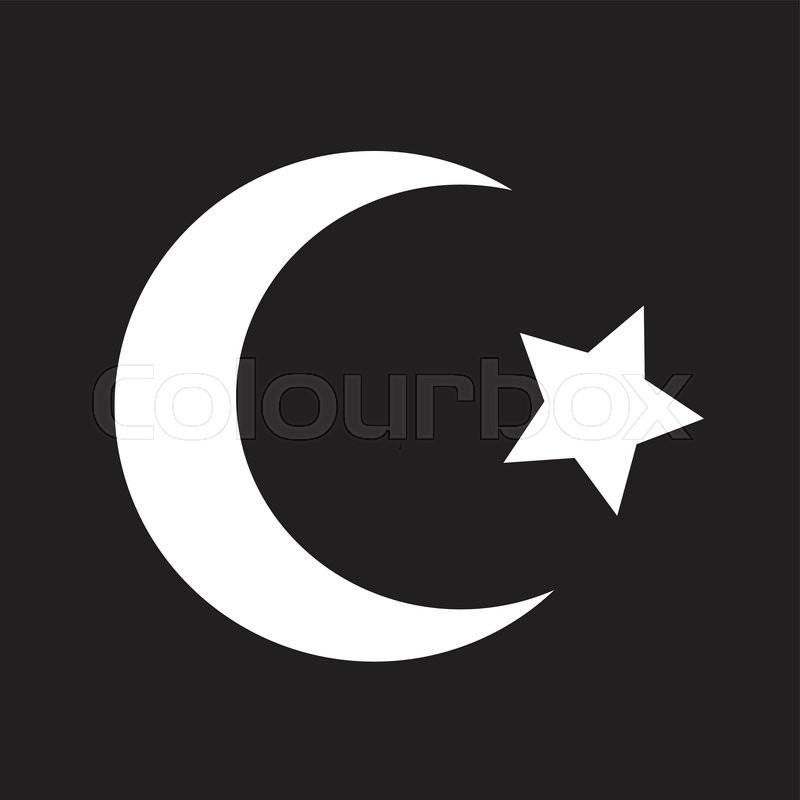 Symbol Of Islam Star Crescent Icon Stock Vector Colourbox