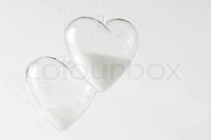 michèle constantini altopress maxppp pair of heart shaped glass