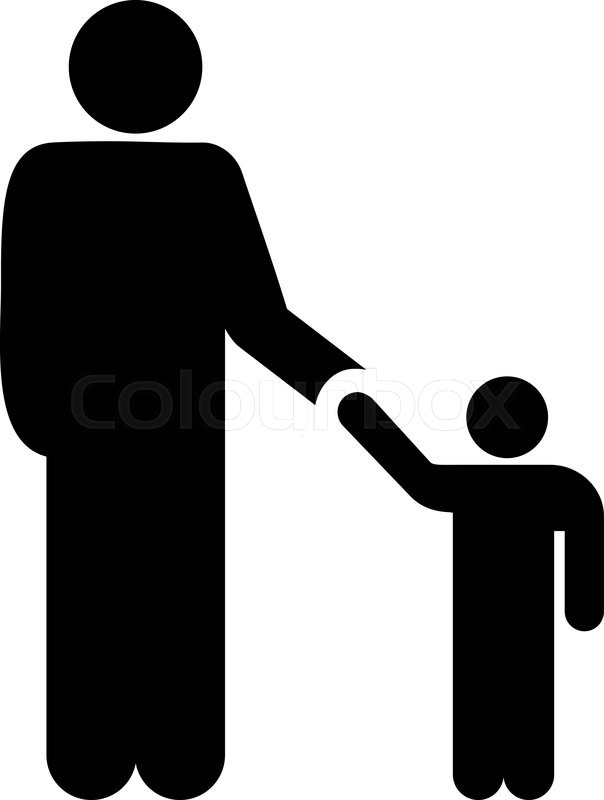 Father With Son Vector Icon Style Is Stock Vector Colourbox