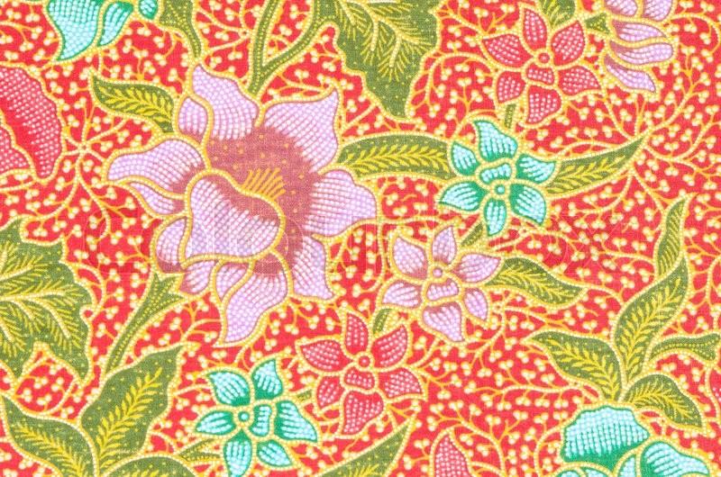 flower pattern background on batik