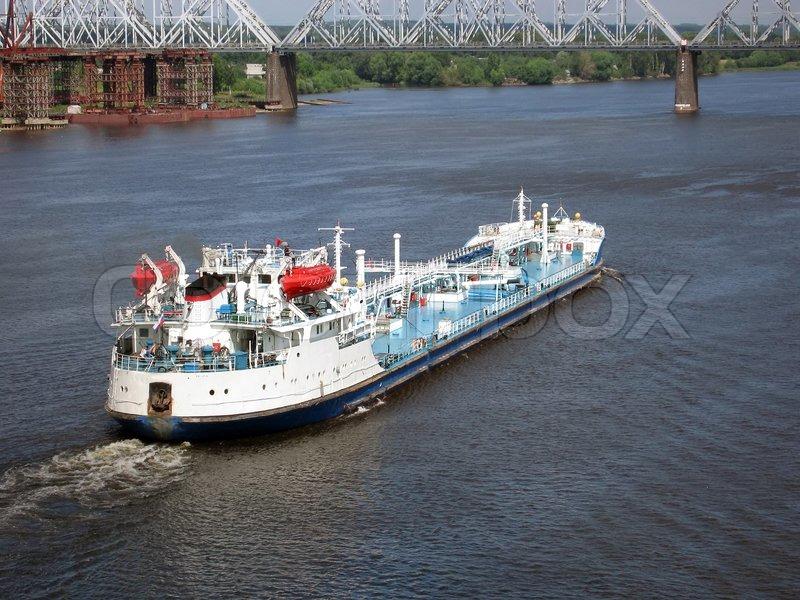 Ship transportation industry freight vessel, stock photo