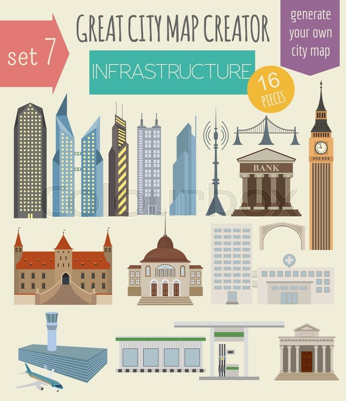 Great city map creator. House constructor. House, cafe, restaurant ...