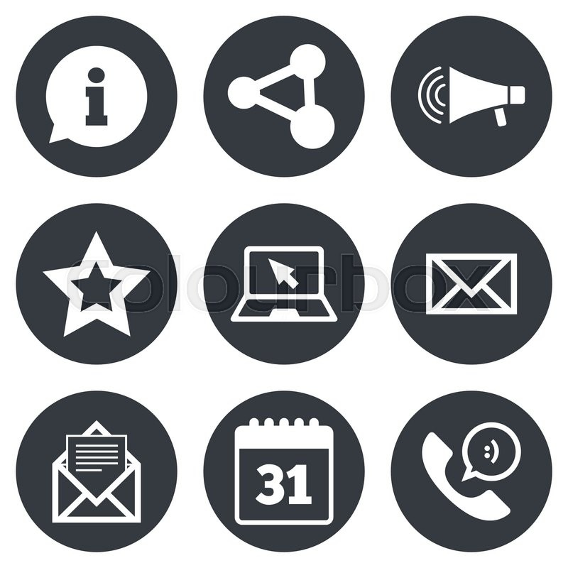 Communication Icons Contact Mail Signs E Mail Information Speech