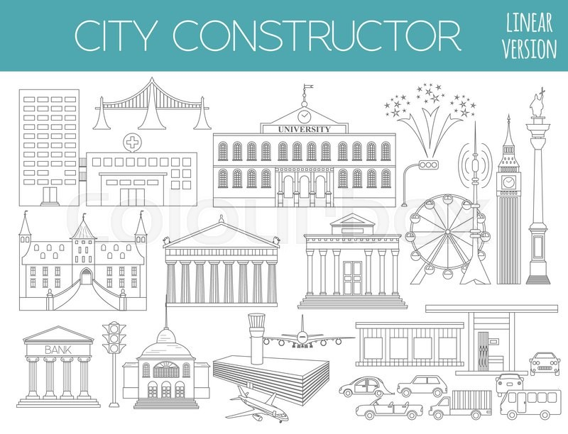 Great city map creator. Outline version. House constructor. House ...
