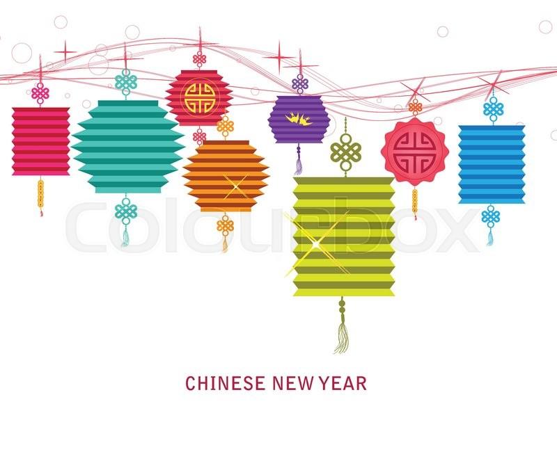 Schmuck, chinesisch, grußwort | Vektorgrafik | Colourbox