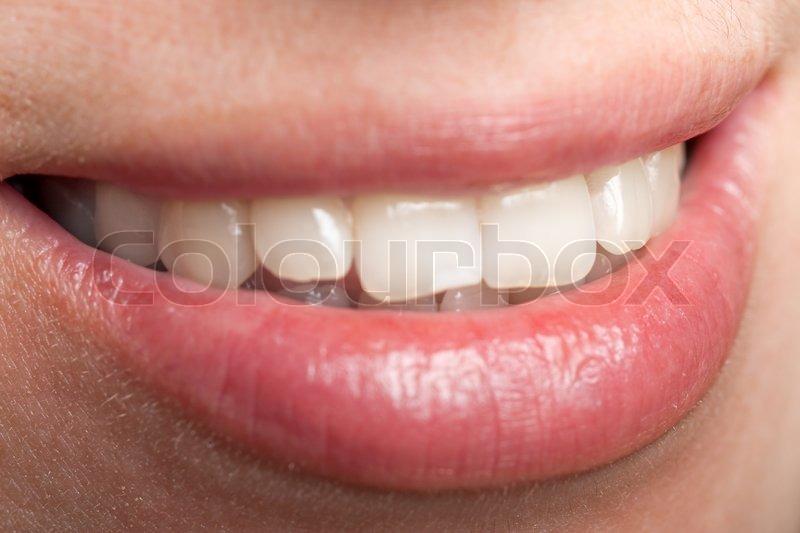 Smiling women - human female beauty teeth and lips | Stock Photo ...