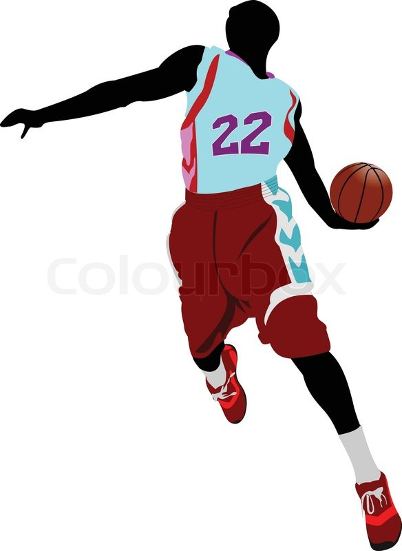 Basketball player. Vector illustration | Stock Vector ...