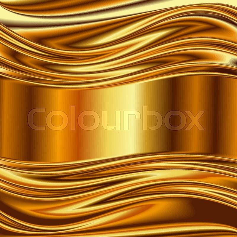Metal Background, Gold Brushed ...