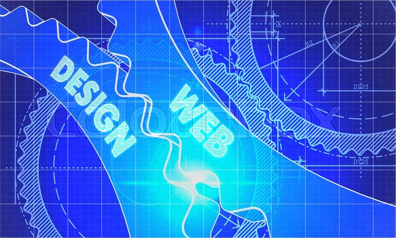 Web design concept blueprint background with gears industrial stock image of web design concept blueprint background with gears industrial design malvernweather Images