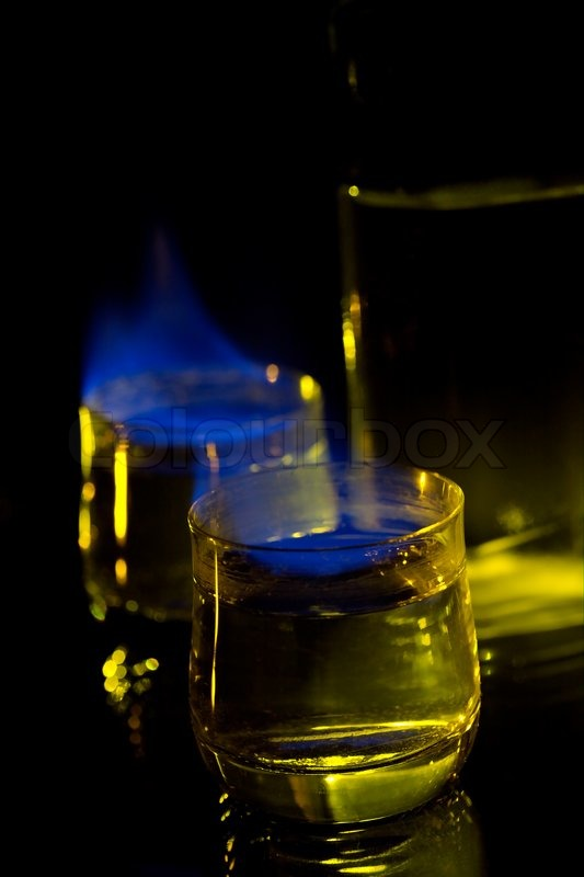 Blue Flame Alcohol Drink