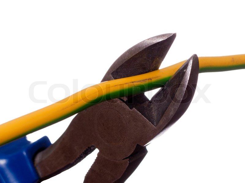 Hand Arbeitsmittel Werkzeug - Drahtschneider oder einer Zange ...