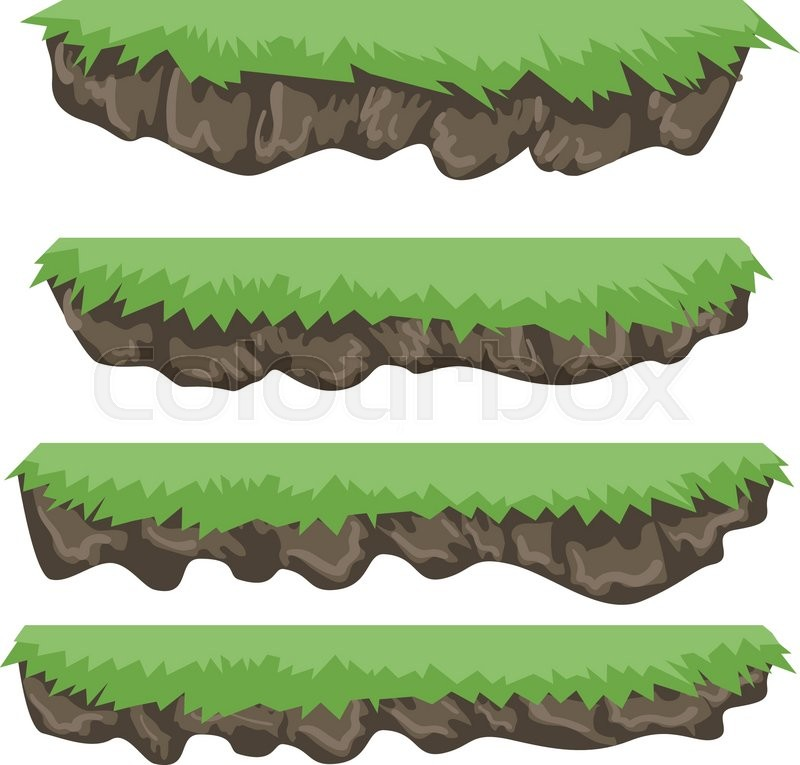 A Set Of Vector Game Asset Contains Ground Tiles And