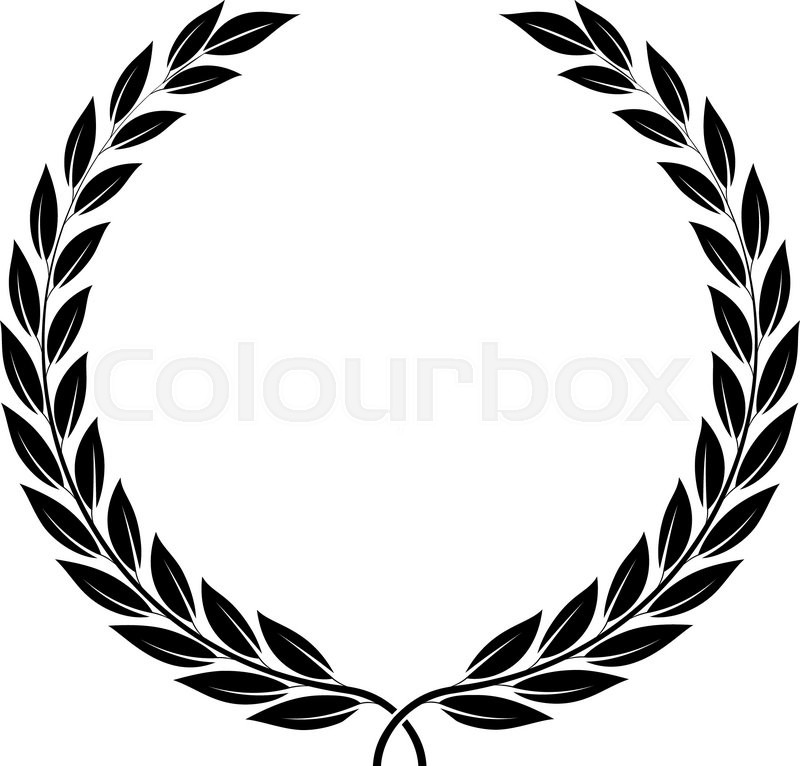 Achievement Logo a laurel wreath - symbol of victory and achievement. design element