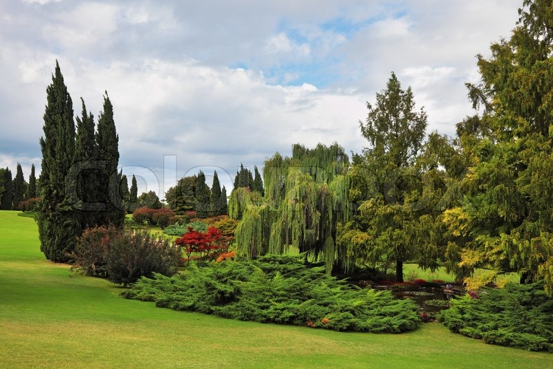 Märchenhaft Schönen Park Garten Stock Bild Colourbox