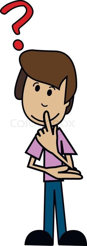 illustration of a cartoon man with question mark stock vector rh colourbox com question mark cartoon black and white question mark cartoon gif